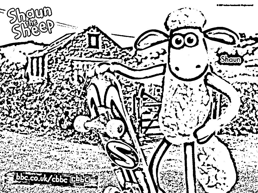 Shaun The Sheep Coloring in Pages 2