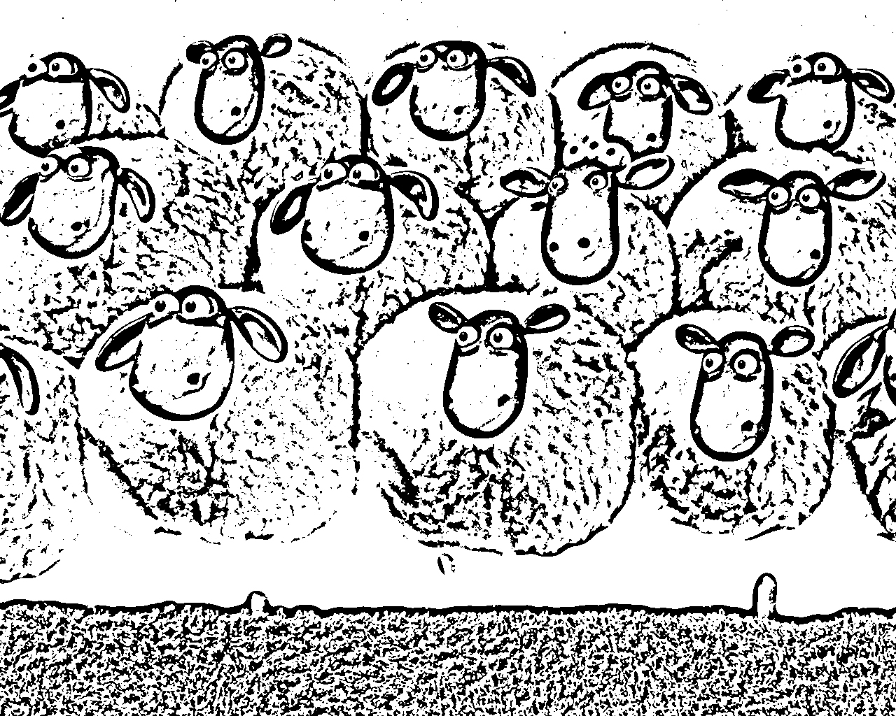 coloring pictures sheep : Shaun The Sheep Coloring Pages Decimamas