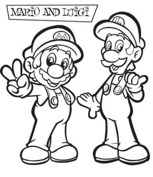 Super Mario Coloring in Pages 1