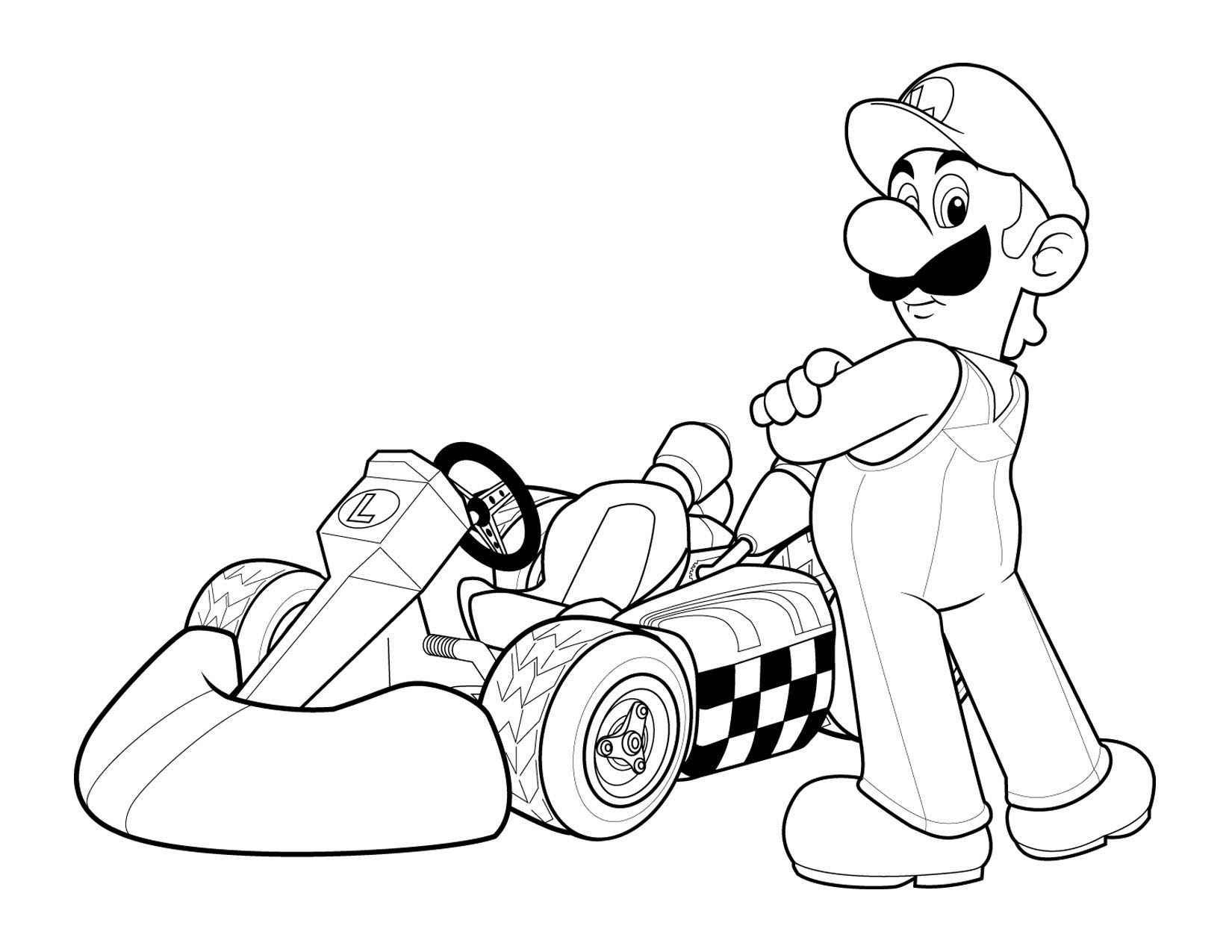 Super Mario Coloring in Pages 2