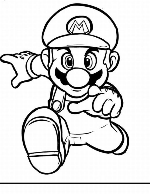 Super Mario Coloring in Pages 5