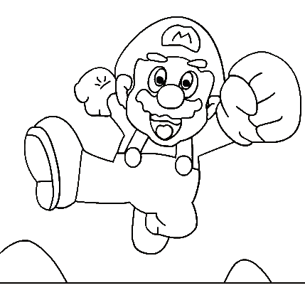 Super Mario Coloring in Pages 7