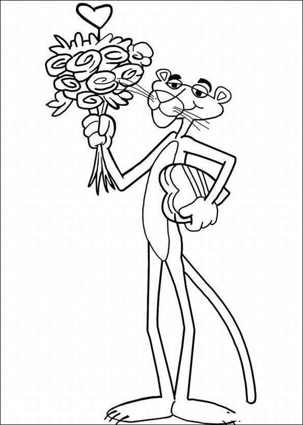 The Pink Panther Show Coloring in Pages 12