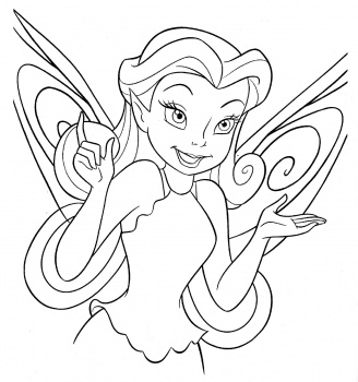 Tinkerbell Coloring in Pages 12
