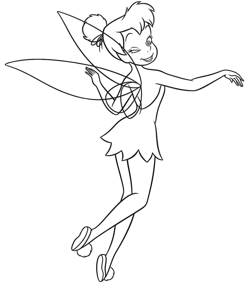 Tinkerbell Coloring in Pages 3