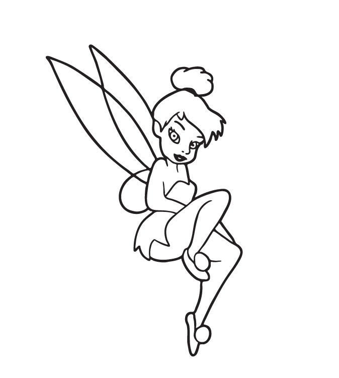 Tinkerbell Coloring in Pages 8