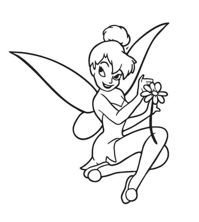 Tinkerbell Coloring in Pages 9