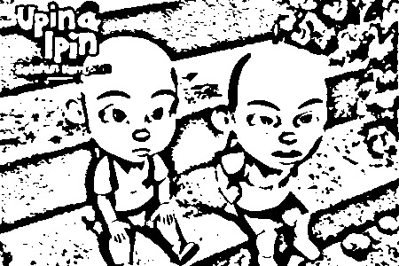 Upin Ipin Coloring in Pages 10