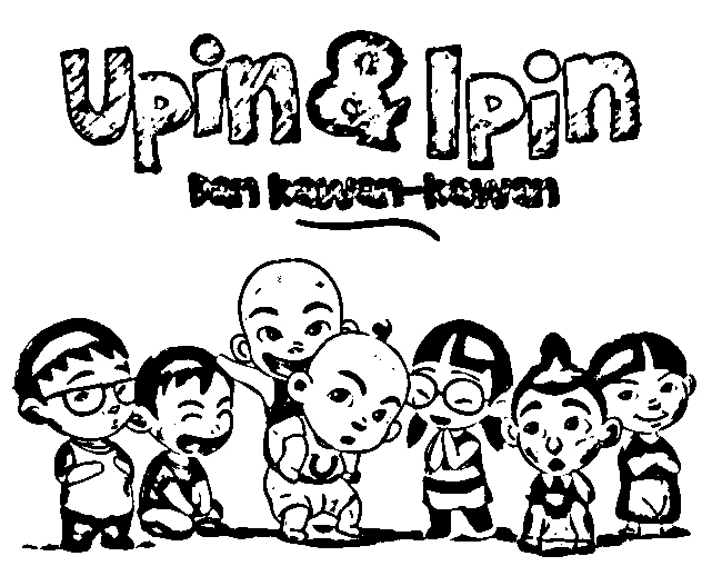 Upin Ipin Coloring in Pages 11