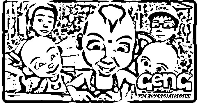 Upin Ipin Coloring in Pages 12