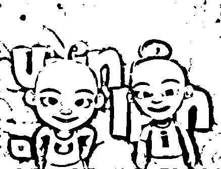 Upin Ipin Coloring in Pages 2