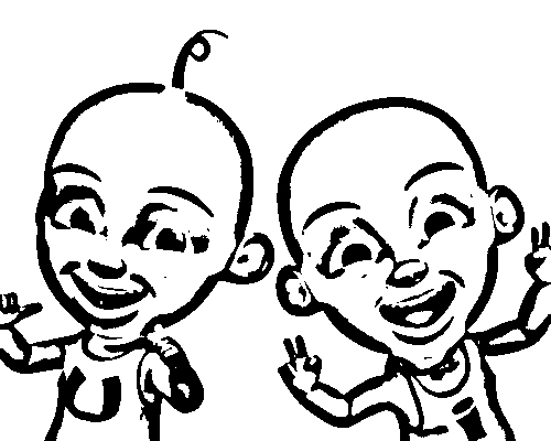 Upin Ipin Coloring in Pages 6