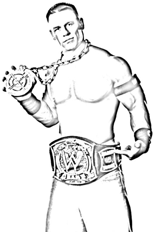 Wwe Wwf Wrestling Raw John Cena Kids Coloring Pages Colouring Pictures ...